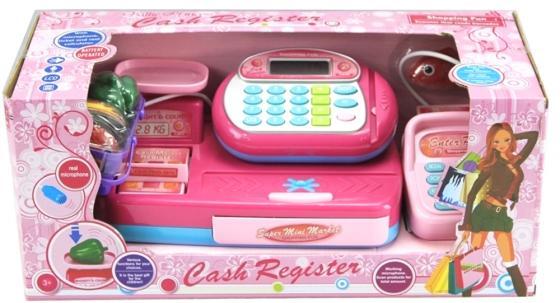 все цены на Игровой набор Shantou Gepai Кассовый аппарат со сканером и набором продуктов 14 предметов