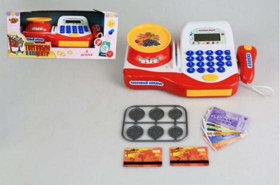 Игровой набор Shantou Gepai Торговый центр - Кассовый аппарат с аксессуарами свет, звук M6861 цена