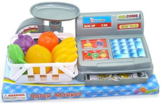 Игровой набор Shantou Gepai Касса с весами и аксессуарами shantou gepai игрушка пластм касса электронная продукты сканер shantou gepai