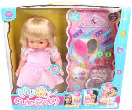 Кукла Shantou Gepai Карина с аксессуарами 40 см со звуком в ассортименте кукла shantou gepai my baby 30 см со звуком пьющая писающая