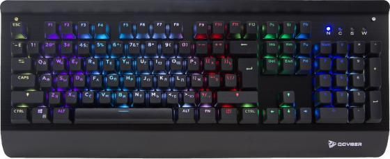 Клавиатура проводная Qcyber Zadiak USB черный QC-03-007DV01 гарнитура qcyber roof black red звук 7 1 2 2m usb