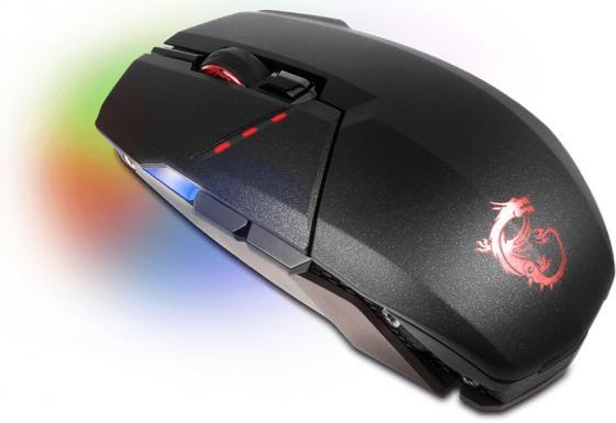 лучшая цена Мышь проводная MSI Clutch GM70 чёрный USB + радиоканал