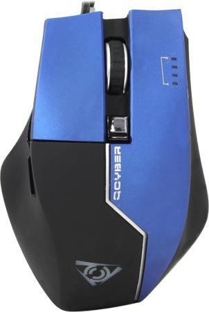 Мышь проводная Qcyber Zorg синий USB