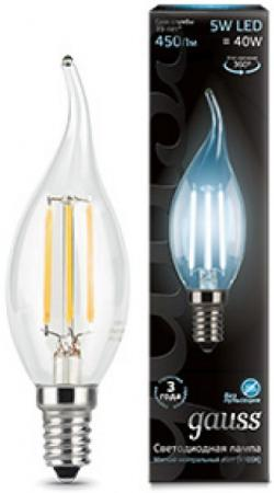 Лампа светодиодная свеча на ветру Gauss 104801205 E14 5W 4100K лампа светодиодная свеча на ветру toshiba 00501760620a e14 5w 2700k