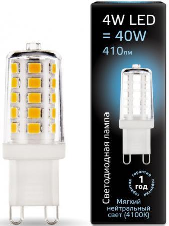 Лампа светодиодная кукуруза Gauss 107309204 G9 4W 4100K лампа светодиодная диммируемая 10709 g9 4w 4500k капсульная белая led jcd 4w nw g9 cl dim siz03tr