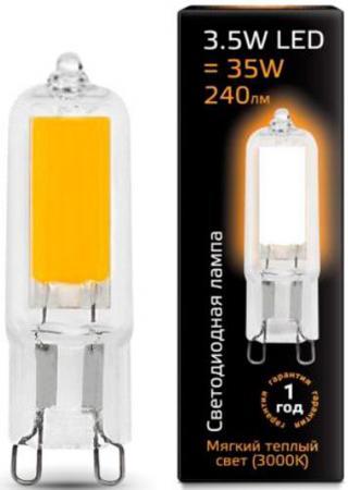 Лампа светодиодная G9 3.5W 3000K колба прозрачная 107809103