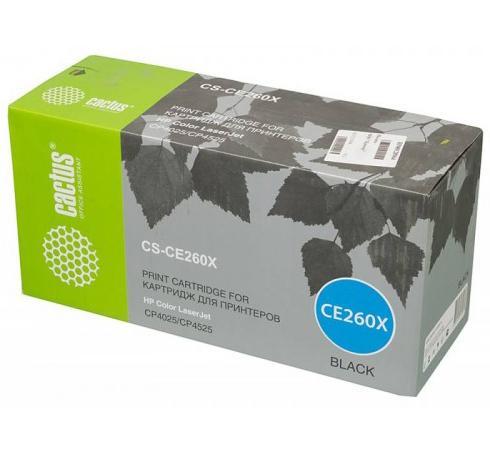 Картридж Cactus CS-CE260XR для HP LJ CP4020/CP4525 черный 17000стр картридж cactus cs ce260ar для hp lj cp4025 cp4525 cm4540 черный 8500стр