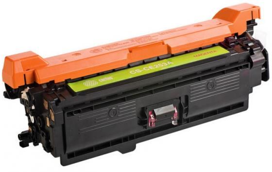 Фото - Картридж Cactus CS-CE253AV для HP CLJ CP3525/ CM3530 пурпурный 7000стр тонер картридж cactus cs ce250av черный 5000стр для hp clj cm3530 cp3525