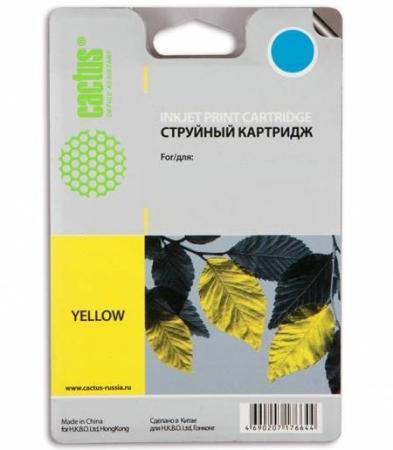 Картридж Cactus CS-F6U18AE для HP OJ Pro 7740/8210/8218/8710/8715 желтый картридж совместимый для струйных принтеров cactus cs pgi29y желтый для canon pixma pro 1 36мл cs pgi29y