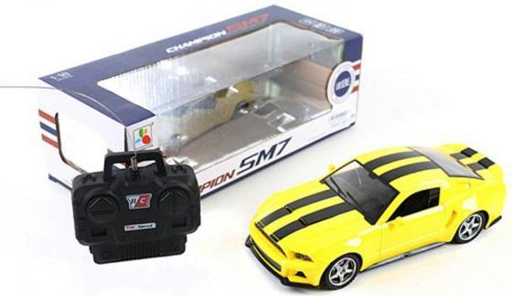 Машинка на радиоуправлении Shantou Gepai Champion SM7 желтый от 3 лет пластик, металл 1:18, 4 канала, свет