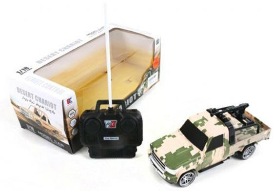 Машинка на радиоуправлении Shantou Gepai Desert Chariot - Военный джип камуфляж от 3 лет пластик 1:18, 4 канала военный автомобиль на радиоуправлении tongde в72398 пластик от 3 лет зелёный