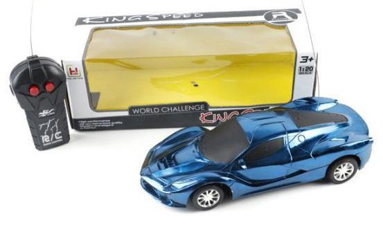 Машинка на радиоуправлении Shantou Gepai 631824 сине-черный от 3 лет пластик машинка на радиоуправлении shantou gepai crazy спорткар белый от 3 лет пластик 1 20 2 канала 3d свет 635556