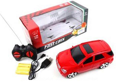 Машинка на радиоуправлении Shantou Gepai 637166 красный от 3 лет пластик, металл автомобиль balbi автомобиль черный от 5 лет пластик металл rcs 2401 a