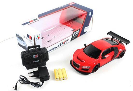 Машинка на радиоуправлении Shantou Gepai 637188 красный от 3 лет пластик, металл машинка на радиоуправлении shantou gepai g253 12a пластик от 3 лет красный 6927712563804
