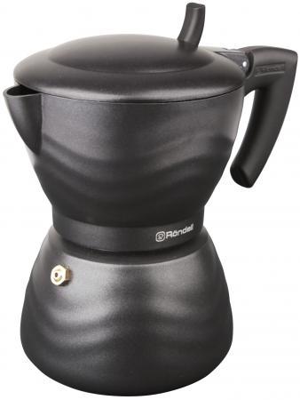 Кофеварка гейзерная Rondell Walzer 6 порций алюминий RDA-432 гейзерная кофеварка 6 чашек rondell walzer rda 432