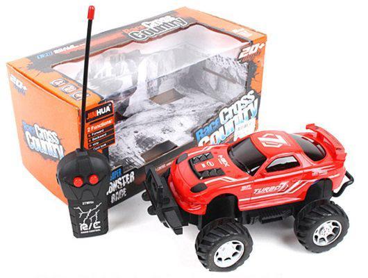 Машинка на радиоуправлении Shantou Gepai 637159 красный от 3 лет пластик, металл машинка на радиоуправлении shantou gepai g253 12a пластик от 3 лет красный 6927712563804