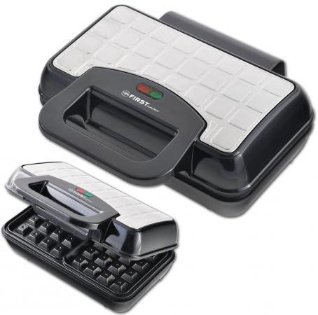 Вафельница First FA-5305-4 чёрный серебристый все цены
