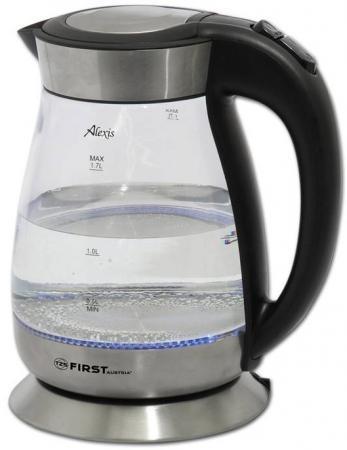 Чайник First FA-5406 2200 Вт чёрный 1.7 л пластик/стекло чайник first fa 5406 2200 вт чёрный 1 7 л пластик стекло