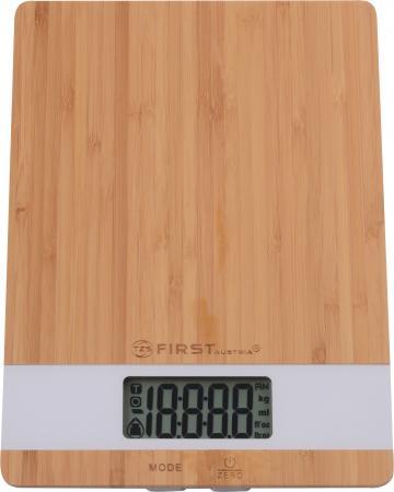 лучшая цена Весы кухонные First FA-6410 белый коричневый