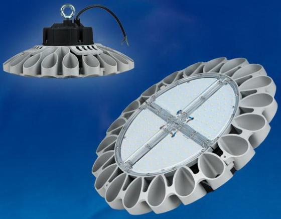 Подвесной светодиодный светильник (UL-00001707) Uniel ULY-U30B-160W/NW IP65 Silver уличный светодиодный светильник ul 00001861 uniel ulv r71j 100w nw ip65 silver