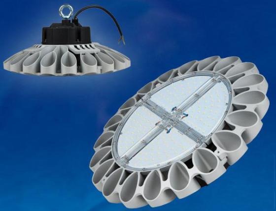 Подвесной светодиодный светильник (UL-00002057) Uniel ULY-U30B-100W/DW IP65 Silver уличный светодиодный светильник ul 00001861 uniel ulv r71j 100w nw ip65 silver