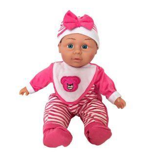 Пупс Shantou Gepai в розовом костюме в полоску с бантом 30 см со звуком сумка shantou gepai 9703a 59 розовый