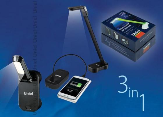 Настольная лампа (UL-00000796) Uniel TLD-530 Black/LED/200Lm/6400K/PB uniel настольная лампа uniel tld 530 ul 00000795