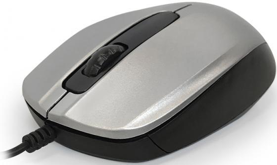 Мышь проводная CBR CM-117 серебристый USB мышь cbr cm 500 grey