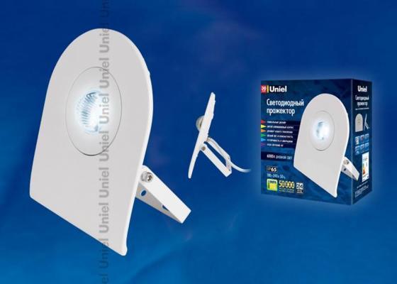 Прожектор светодиодный Uniel 30W (UL-00000388) ULF-F10-30W/DW IP65 180-240В awo 400 0401 00 projector lamp with housing for projection design f1 sx f1 sxga f10 1080 f10 as3d f10 wuxga f12 1080 f12 sx