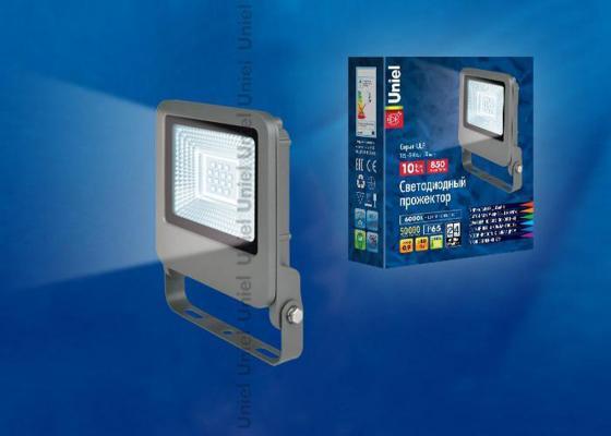 Прожектор светодиодный (UL-00002061) Uniel 10W 6000K ULF-F17-10W/DW cnsunnylight led car external headlight 15w 10w 8w 6000k white motorcycle drl headlamp spotlight drive fog spot lights dc12v 24v