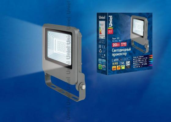 Прожектор светодиодный (UL-00002064) Uniel 20W 6000K ULF-F17-20W/DW zmw tgd 20w 1800lm 6000k white led project lamp spotlight silver black 90 240v