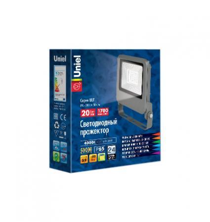 Прожектор светодиодный (UL-00002065) Uniel 20W 4000K ULF-F17-20W/NW uniel ulo cl120 40w nw silver