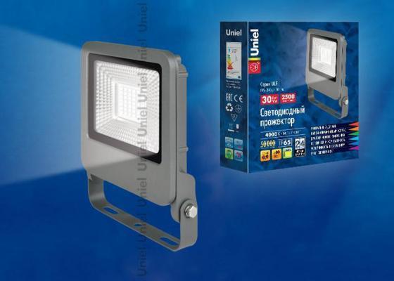 Прожектор светодиодный (UL-00002068) Uniel 30W 4000K ULF-F17-30W/NW прожектор светодиодный ul 00001849 uniel 30w 4000k ulf f15 30w nw ip65 185 240в silver