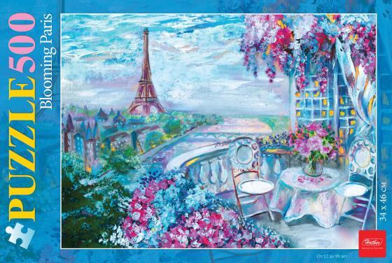 Пазл 500 элементов Hatber Цветущий Париж 500ПЗ2_16970 пазл 500 элементов hatber quot романтический букет quot 500пз2_02480