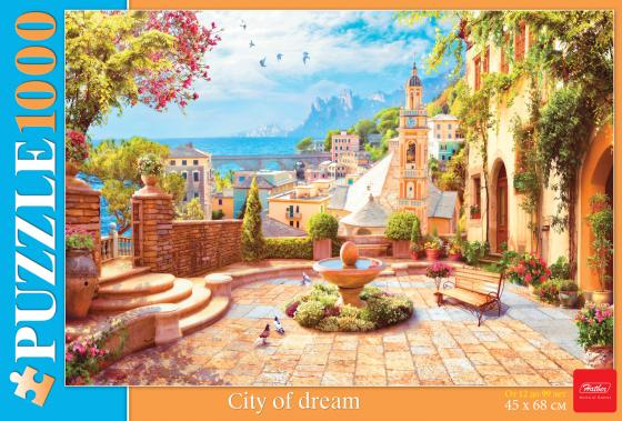 Пазл 1000 элементов Hatber Город Мечты антология за границами снов