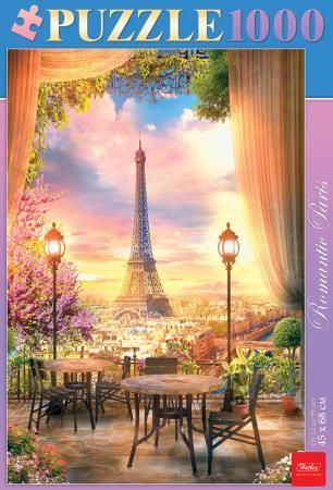 Пазл 1000 элементов Hatber Романтичный Париж книги эксмо стильные косы и косички не выходя из дома