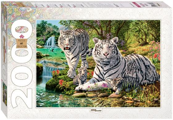 Пазл 2000 элементов Step Puzzle Сколько тигров? 84034 пазл 55 элементов кастор времена года