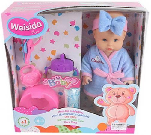 Кукла Shantou Gepai My Baby 30 см со звуком пьющая писающая погремушки жирафики котик со звуком
