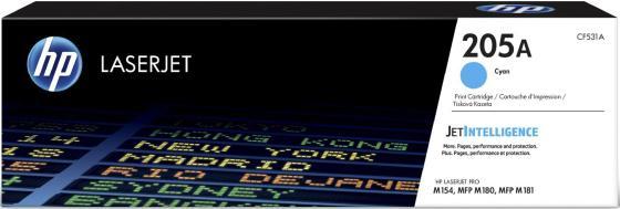 Купить со скидкой Картридж HP 205A CF531A для HP Color LaserJet Pro M180n M181fx голубой 900стр