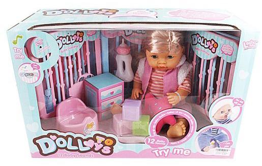Игровой набор Shantou Gepai Пупс 40 см со звуком пьющая писающая кукла shantou gepai my baby 30 см со звуком пьющая писающая