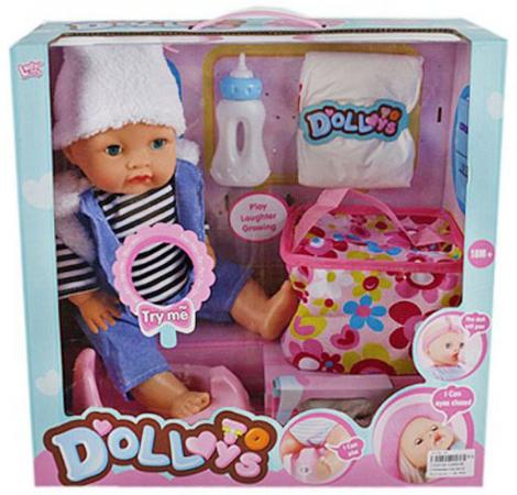Пупс Shantou Gepai Baby 40 см со звуком пьющая писающая кукла shantou gepai my baby 30 см со звуком пьющая писающая