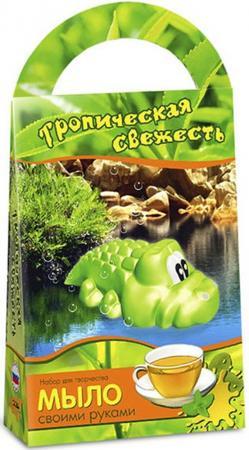 Набор для изготовления мыла Аромафабрика Тропическая свежесть - Зеленый чай от 3 лет С0206 набор для изготовления мыла аромафабрика лимпопо от 8 лет с0101