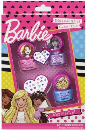 Игровой набор детской декоративной косметики Markwins Барби, для ногтей 5 предметов 9708351 наборы декоративной косметики иллозур подарочный промо набор yllozure