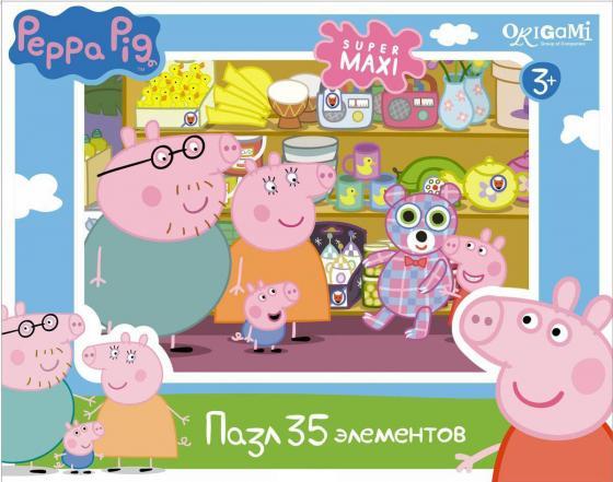 Пазл 35 элементов ОРИГАМИ Peppa Pig пазлы peppa pig пазл 36a