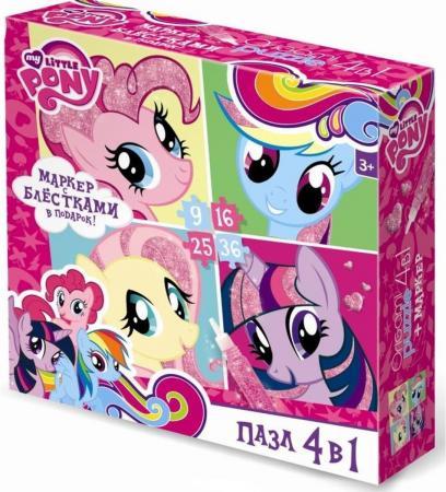 Пазл 4-в-1 9-16-25-36 элементов ОРИГАМИ My Little Pony пазлы origami фиксики пазл 4 в 1 9 16 25 36 элементов