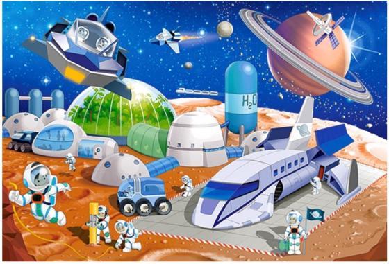 Пазл 40 элементов Кастор Космическая станция пазл 55 элементов кастор времена года