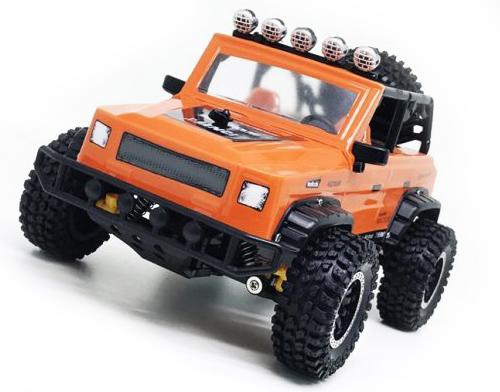 Машинка на радиоуправлении Пламенный мотор Джип Сафари оранжевый от 5 лет пластик, металл пламенный мотор пламенный мотор радиоуправляемая машина внедорожник пм 040 красный
