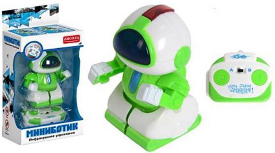 Робот радиоуправляемый Zhorya Миниботик светящийся двигающийся на радиоуправлении ZYB-B1561-2 игрушка zhorya zyb b2684 1 zy640393
