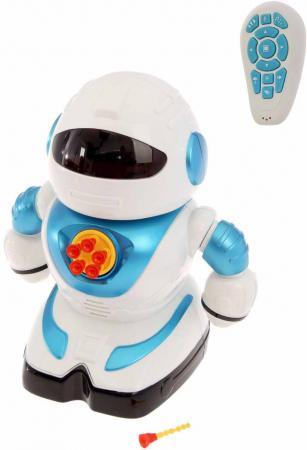 Робот на радиоуправлении Shantou Gepai свет, звук, стреляет пульками, эл.пит.не вх.в комплект SPA991190M-W радиоуправляемый робот паук keye toys space warrior с пульками