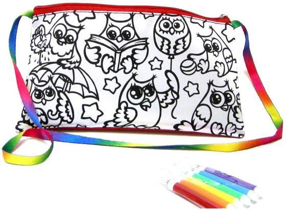 Набор для творчества ДАНКО-ТОЙС My Color Clutch клатч-пенал Совы -раскраска фломастерами от 5 лет набор для творчества данко тойс my color clutch клатч пенал пони от 6 лет